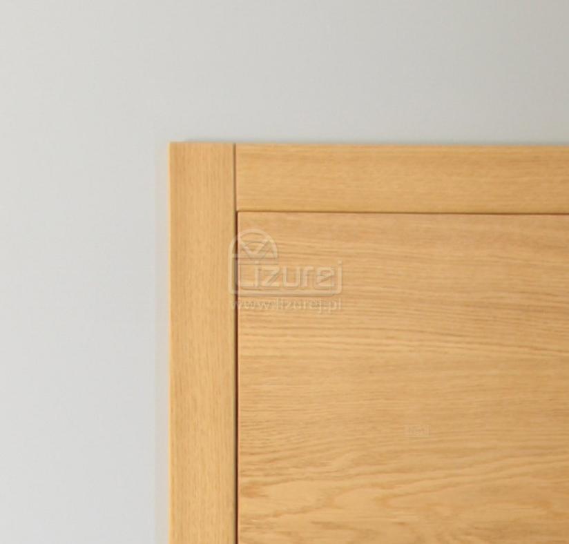 Drzwi wewnętrzne bezfelcowe z opaską L1 detal