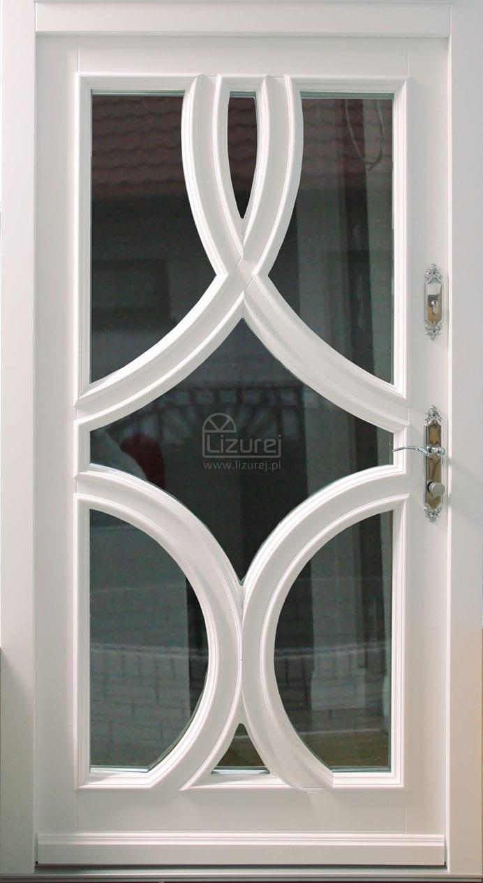 Drzwi zewnętrzne Białe nowoczesne Pasywne ciepłe LZ 509