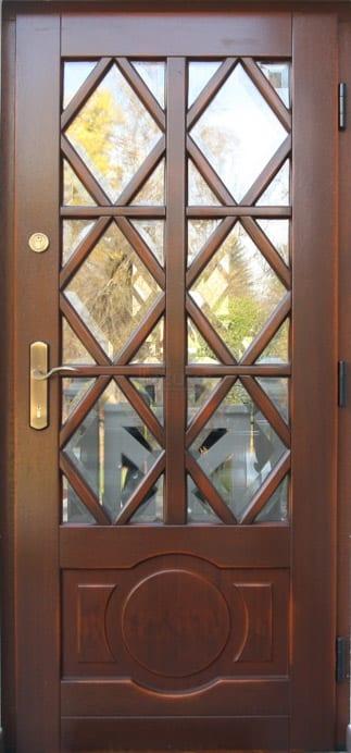 Drzwi zewnętrzne stylowe dworek postarzane LZ 553