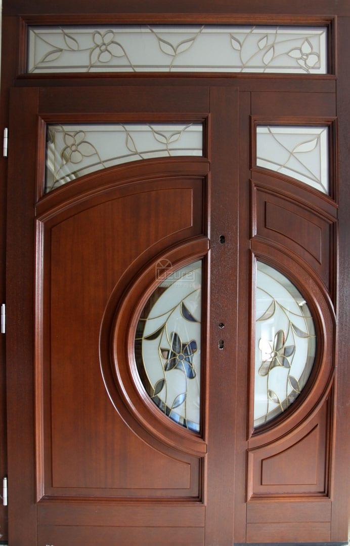Drzwi zewnętrzne z witrażem LZ 265
