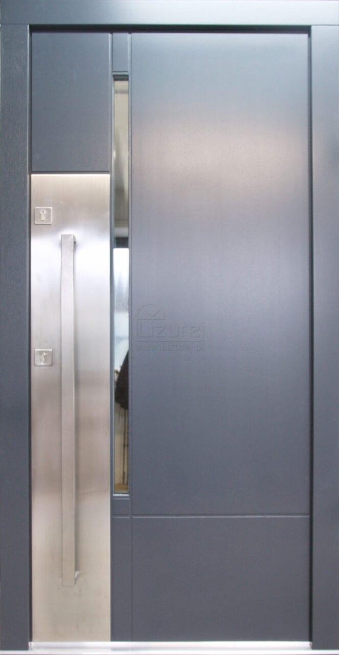 Drzwi zewnętrzne nowoczesne antracyt LZ 526