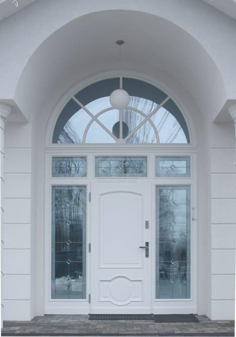 Drzwi zewnętrzne Willa Parkowa 1 2 3 z łukiem białe LZ 508