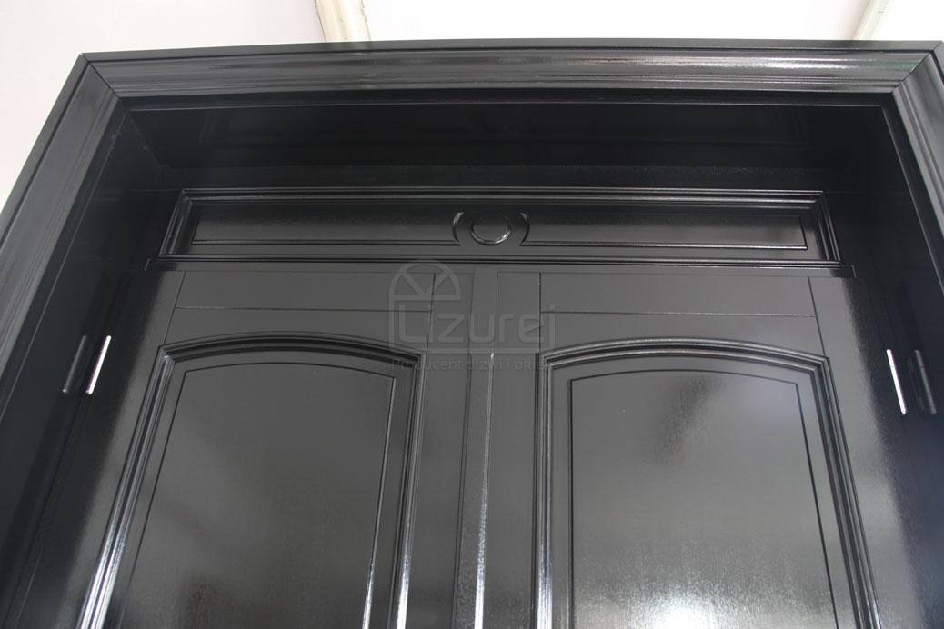 drzwi_drewniane_zewnętrzne_czarne_z_dostawką_LZ498-3