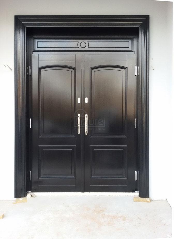 drzwi_drewniane_zewnętrzne_czarne_z_dostawką_LZ498-6