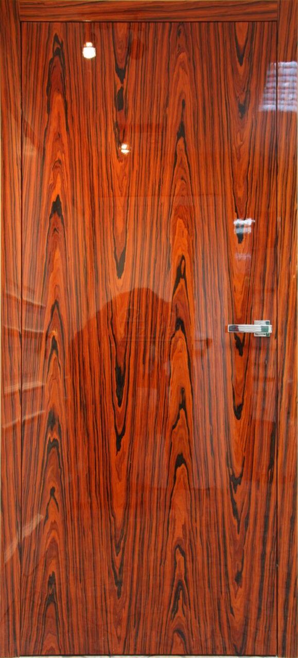 Drzwi wewnętrzne nowoczesne drewniane / palisander wysoki połysk LW 501