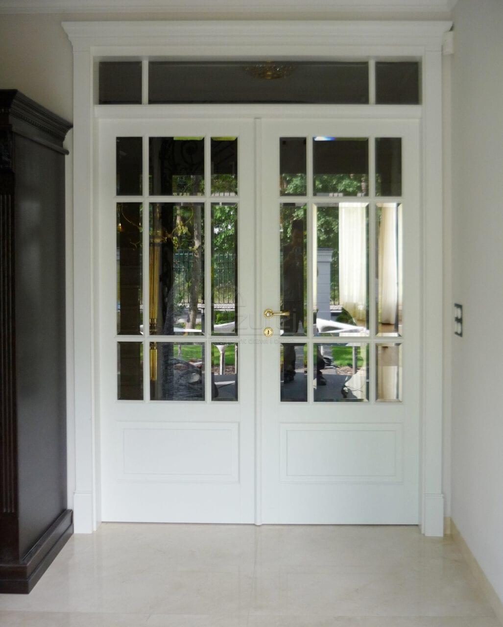 Drzwi wewnętrzne dwuskrzydłowe białe LW479