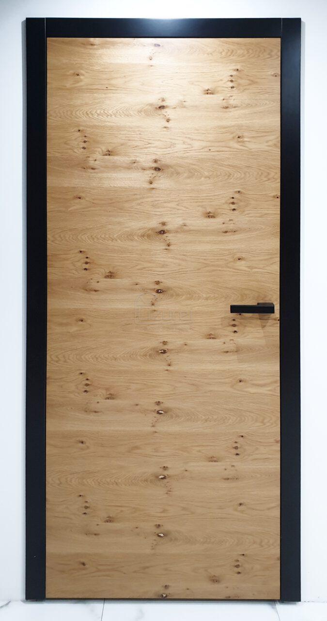 Drzwi Wewnętrzne MDF Czarne Dąb Rustik Retro Nowoczesne Lw500