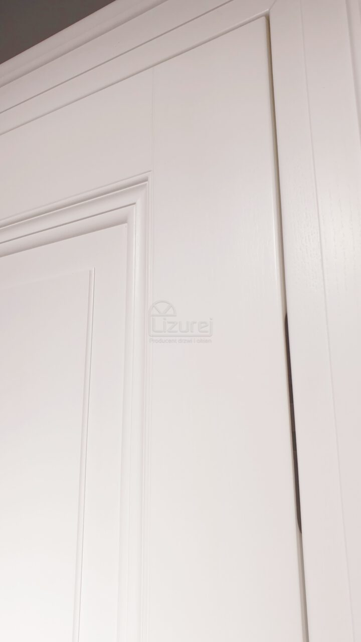 Drzwi Wewnętrze Pokojowe Drewniane Białe Chowany Zawias Lw 532