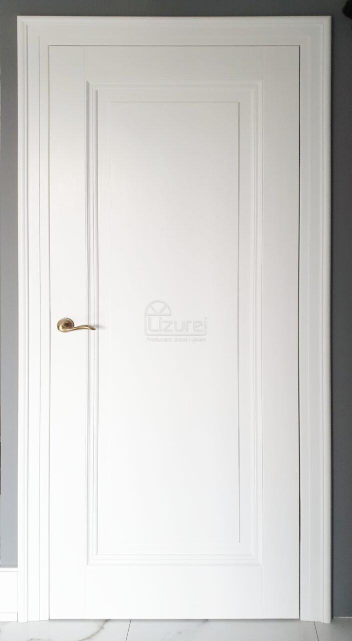 Drzwi Wewnętrze Pokojowe Drewniane Białe Lw 532