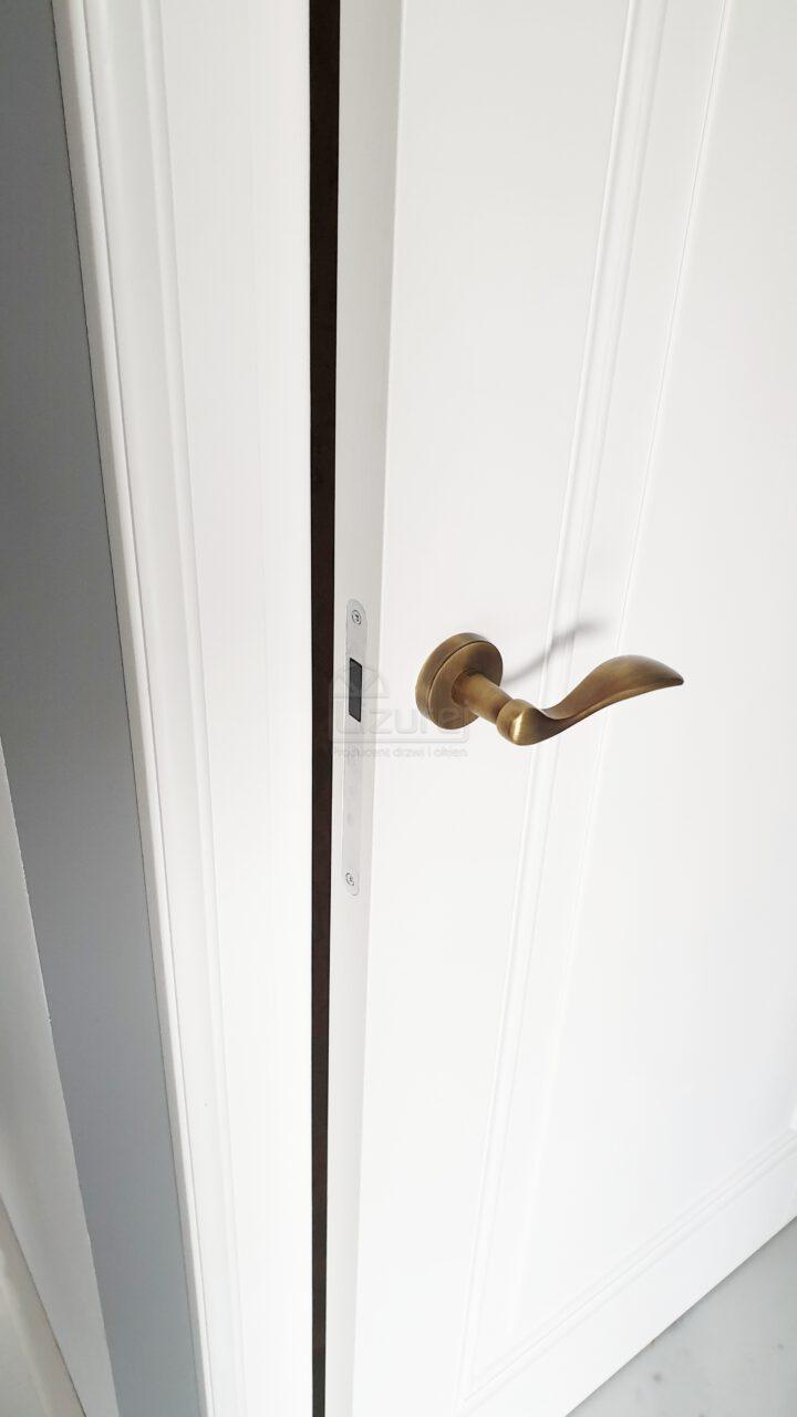 Drzwi Wewnętrze Pokojowe Drewniane Białe Magnetyczny Lw 532
