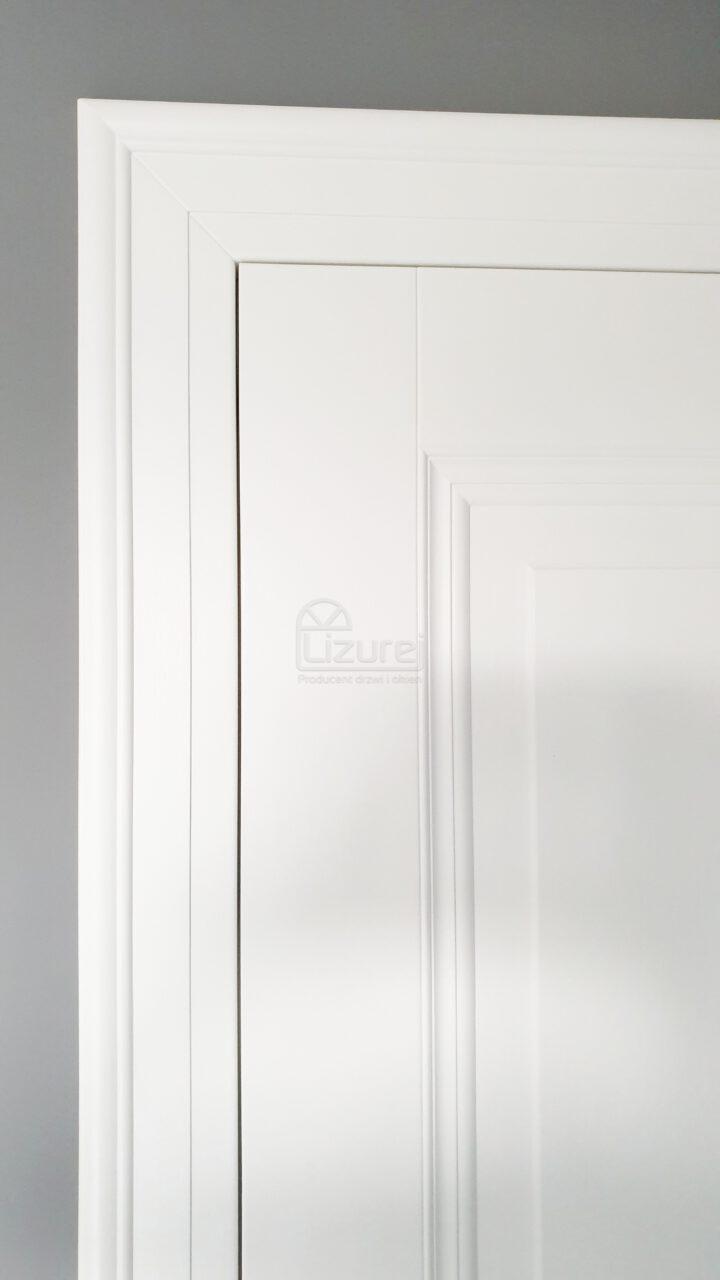 Drzwi Wewnętrze Pokojowe Drewniane Białe Opaska LW460 Lw 532
