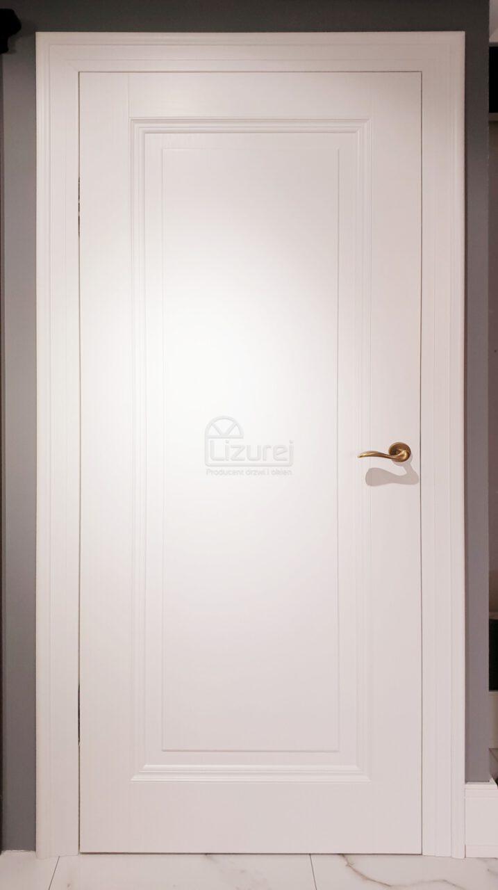 Drzwi Wewnętrze Pokojowe Drewniane Białe Pełne Lw 532