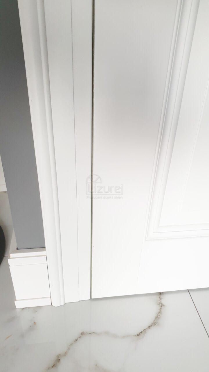 Drzwi Wewnętrze Pokojowe Drewniane Białe Schowany Zawias Lw 532
