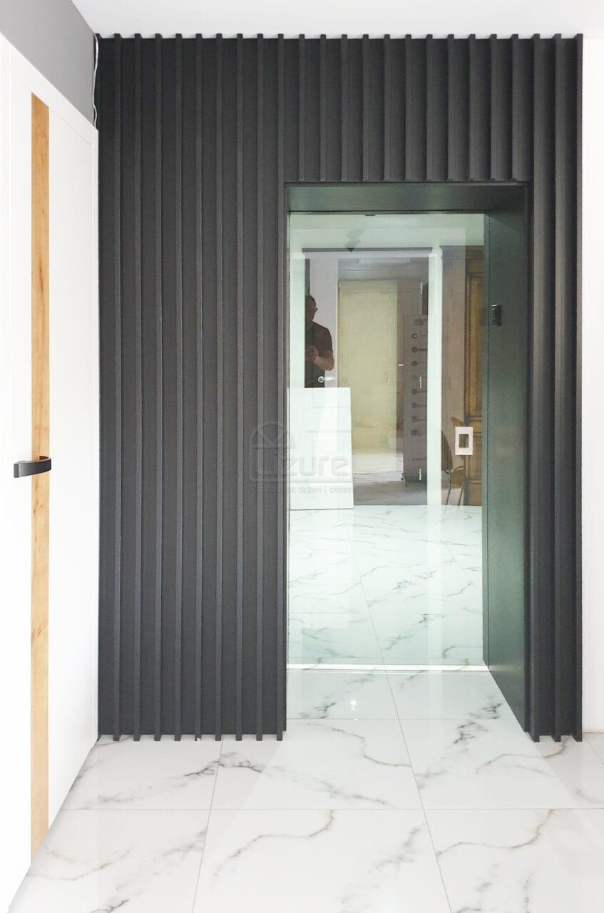 Drzwi i zabudowa ściany nowoczesna zabudowa pionowa szklane drzwi przesuwne LW533