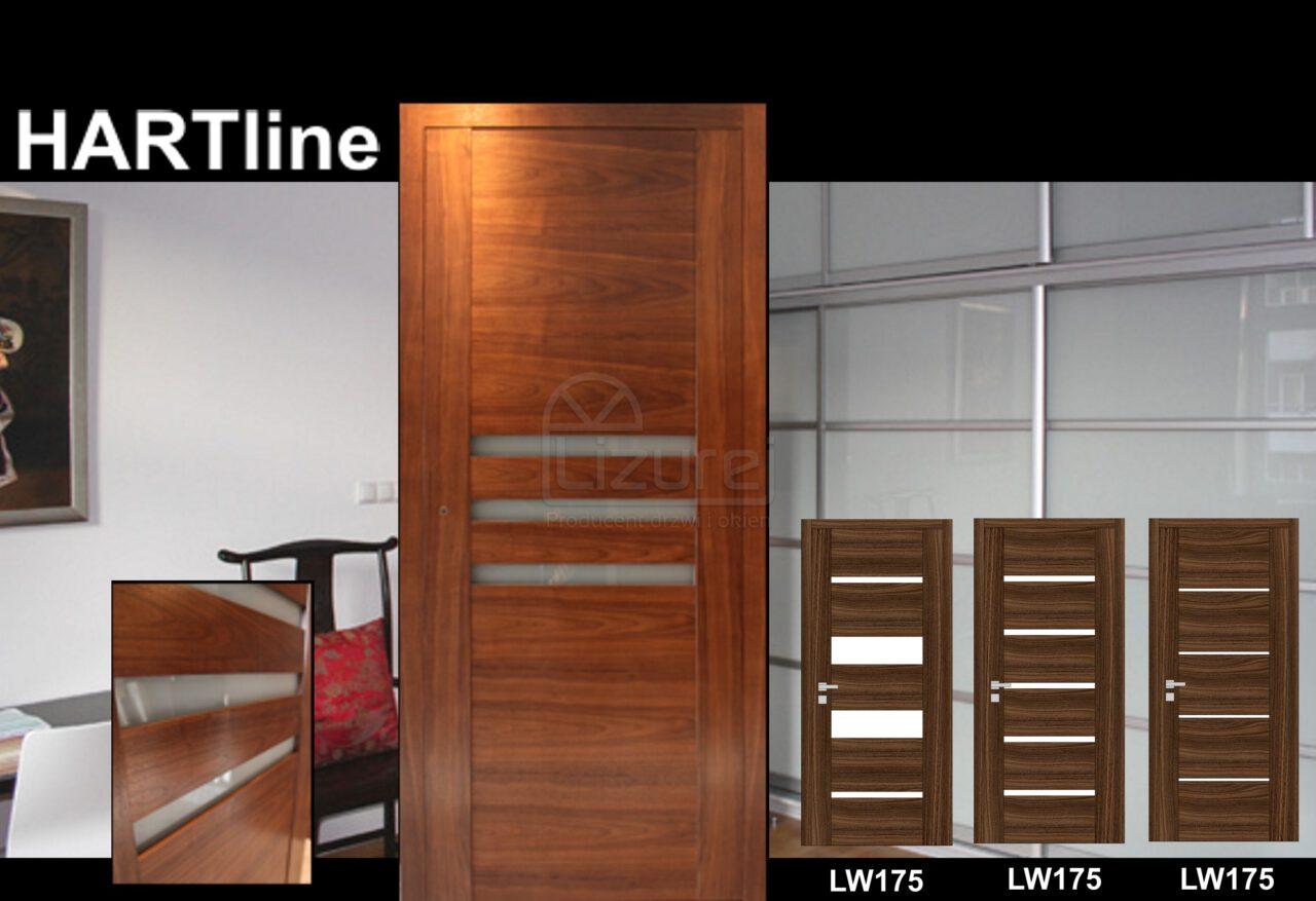 Drzwi Wewnętrzne Drewniane Orzech Amerykański LW305