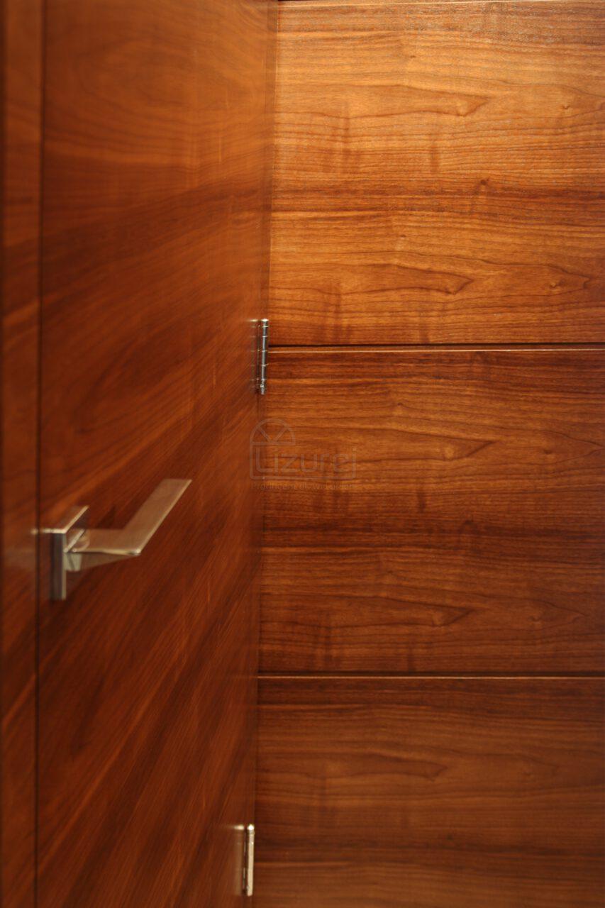 Drzwi Wewnętrzne Drewniane Orzech Amerykański Okładzina Panele ScianeLW305