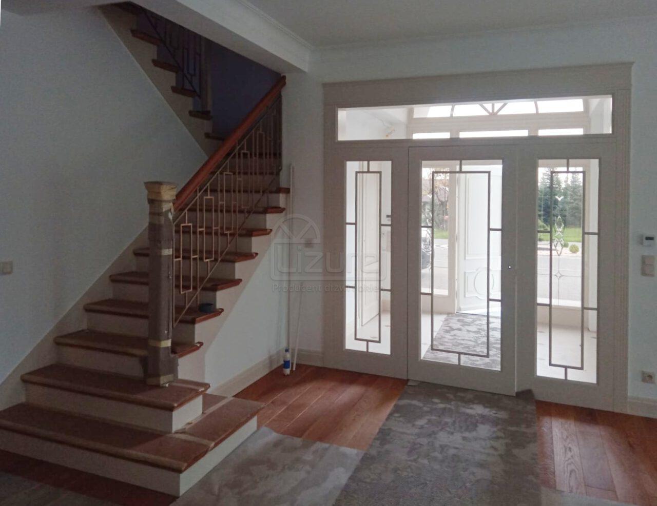 Drzwi wewnętrzne salon i wiatrołap do Willi Parkowa LW536