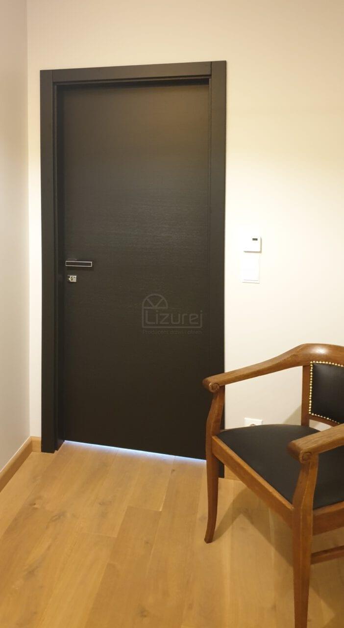 Drzwi Wewnetrzne Drewniane Producent Czarne Premium LW540