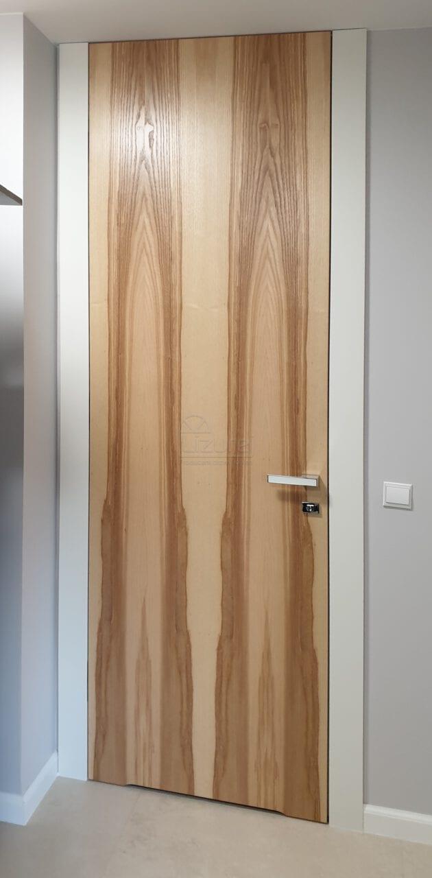 Drzwi Wewnetrzne Drewniane Wysokie Sufitu Jesion LW538