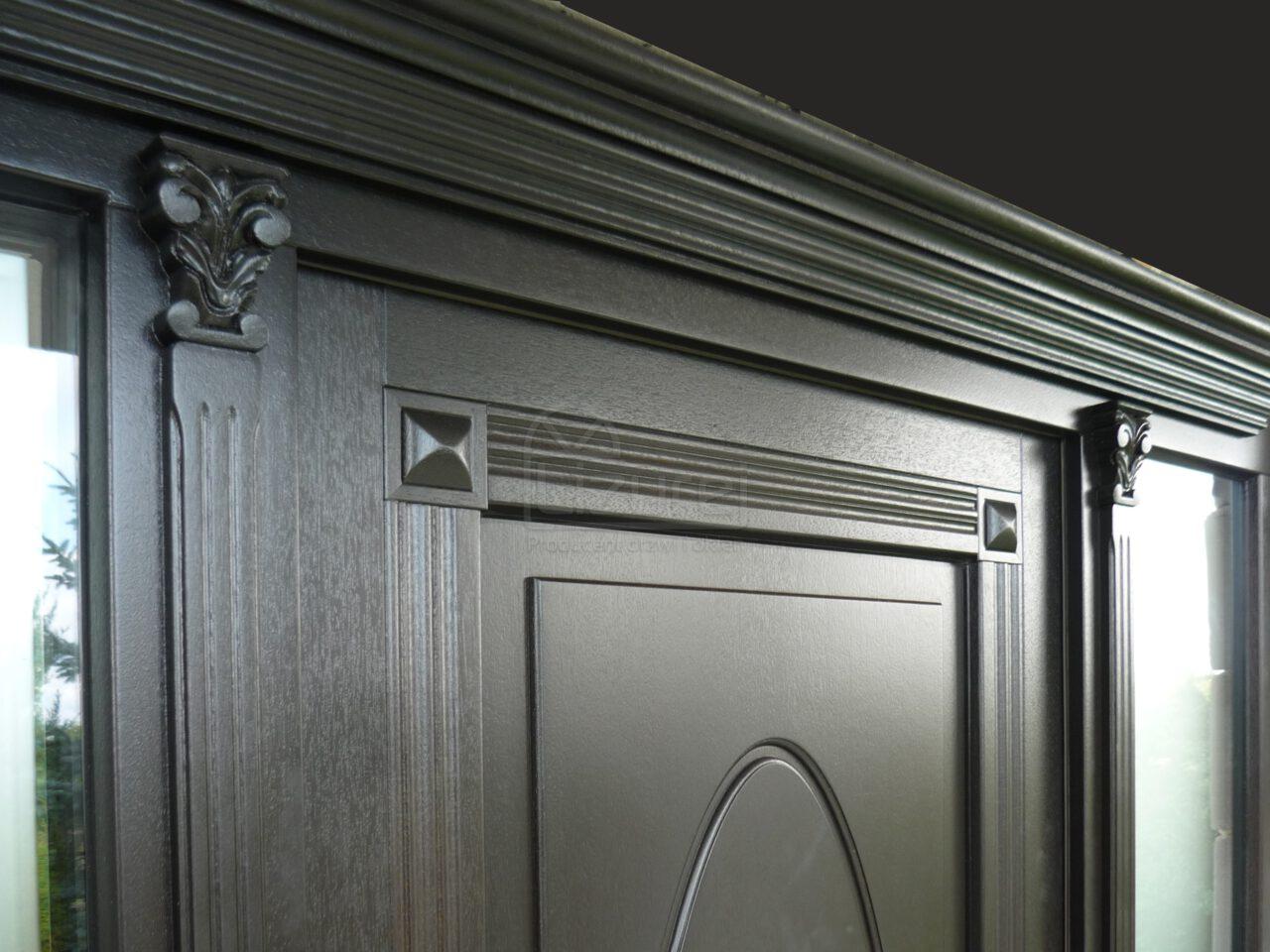 Drzwi Zewnętrznedrewniane Czarne LZ470 3