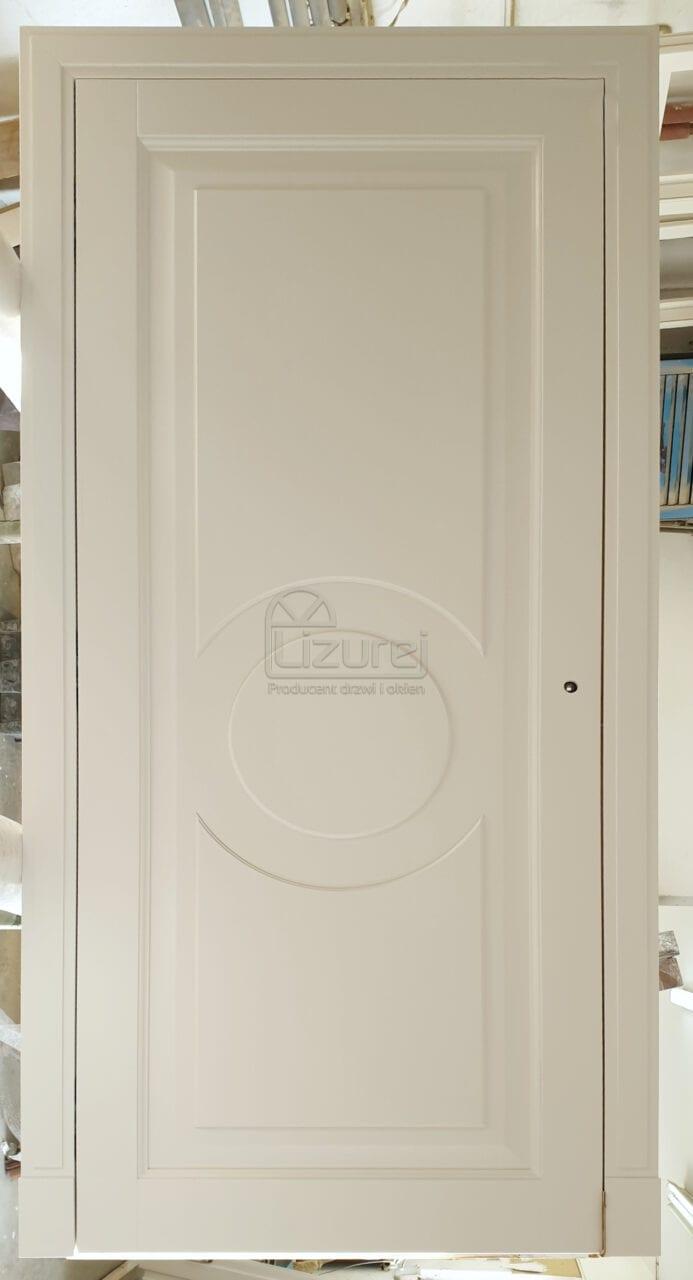 Drzwi drewniane wewnętrzne białe LW542