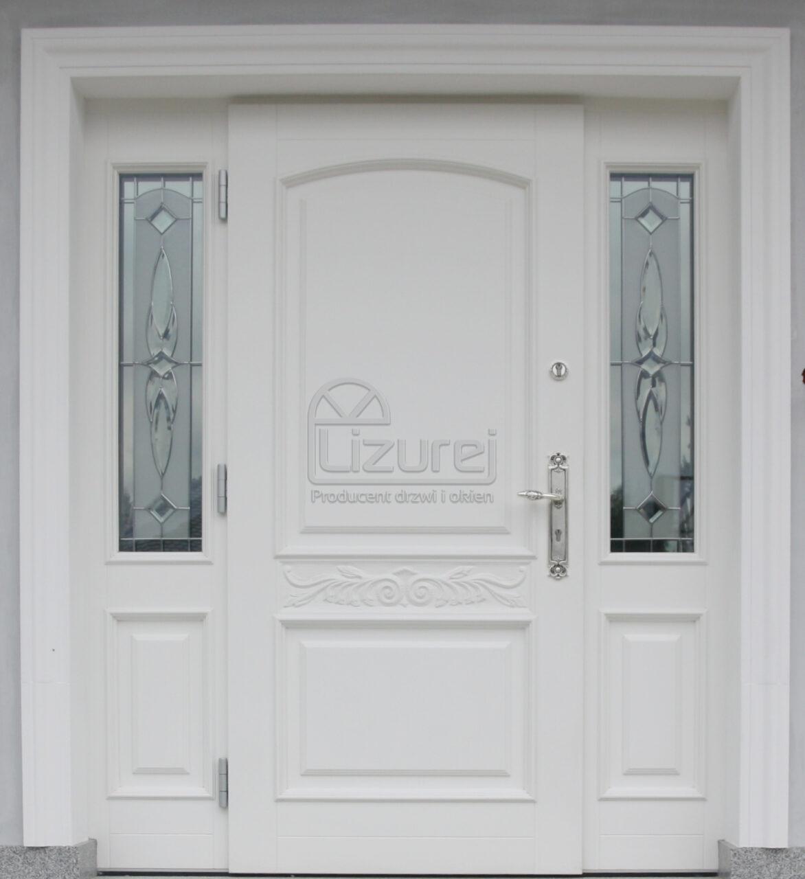 Drzwi zewnętrzne drewniane ocieplane Energooszczędne LZ626