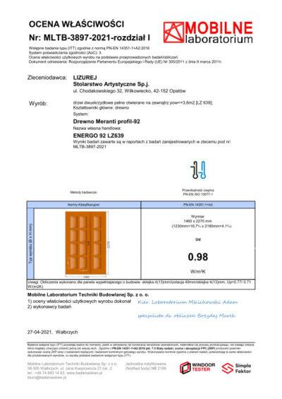 Producent Drzwi Drewnianych Na Wymiar Lizurej Wyposażenie Zewnętrzne 03