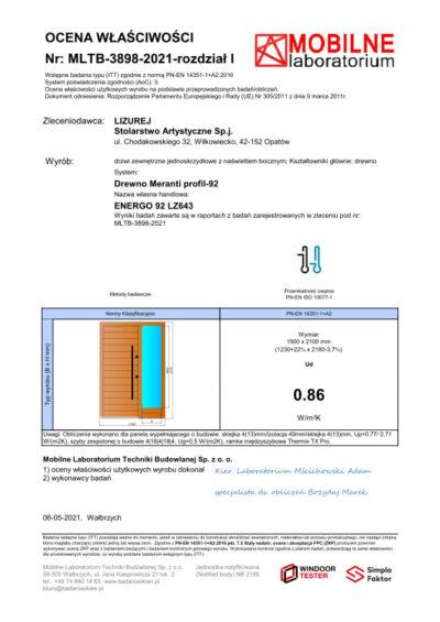 Producent Drzwi Drewnianych Na Wymiar Lizurej Wyposażenie Zewnętrzne 04